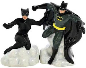 Batman And Catwoman Salt And Pepper Shaker set