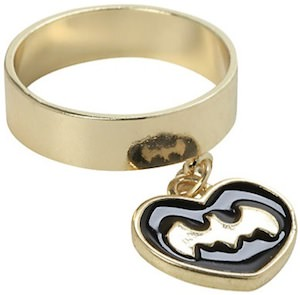 Batman Symbol Charm Ring