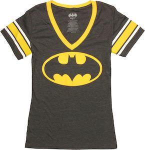 Women's Batman Logo Jersey Style T-Shirt
