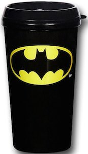 Black Batman Symbol Travel Mug