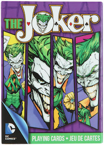 Batman playing cards based on The Joker