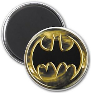 Gold Batman Logo Magnet