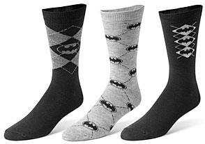 3 pair of Batman socks for men