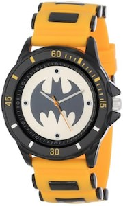 Batman Watch With Yellow Rubber Strap