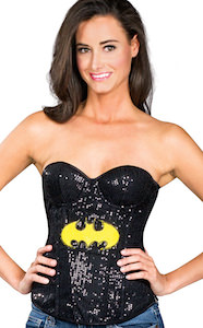 Batman Sequin Corset Top