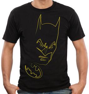 Batman logo and face t-shirt