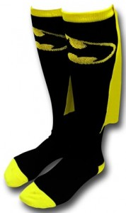 Batman Symbol Caped Socks