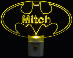 Personalize Batman Symbol Night Light