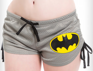 Grey Batman Mesh Shorts