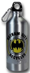 Aluminum Gotham City Recycles Water Bottle