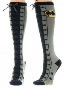 Batman Faux Lace Up Knee High Socks