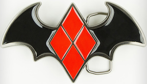 Batman Logo Harley Quinn Belt Buckle