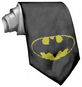 Batman Lite brite Logo Neck Tie