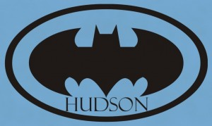 Batman Logo Wall Decal With Personalization