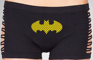 Batman Logo Women's Boyshorts With Cutouts
