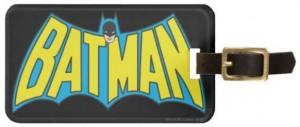 Classic Batman Logo Luggage Tag
