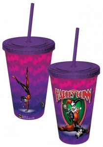 Harley Quinn Travel Cup With Lid And Straw