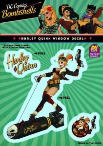 DC Bombshells Harley Quinn Vinyl Sticker