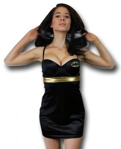 Batman Batgirl Gold Stretch Chemise