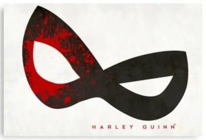 Harley Quinn Blood Splatter Mask Canvas