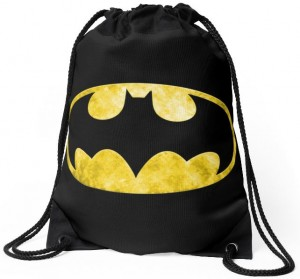 Batman Bat Symbol Drawstring Bag