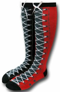 Harley Quinn Faux Lace Up Socks