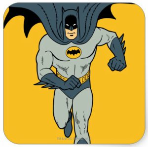 Batman Running To Save You Sticker