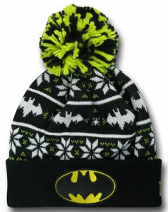 Batman Ugly Sweater Pom Pom Knit Hat
