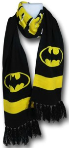 Batman Bat Logo Stripe Scarf