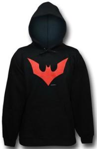 Batman Beyond Red Bat Logo Hoodie
