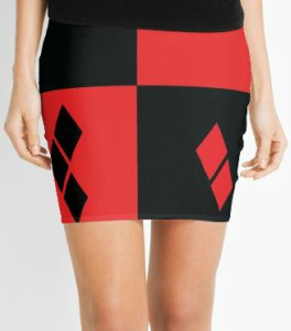 Harley Quinn Colors Pencil Skirt