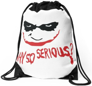 The Joker Why So Serious Drawstring Backpack
