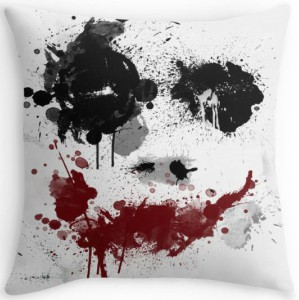 The Joker Paint Splatter Throw Pillow