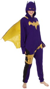 Batgirl Purple Brass Onsie Pajamas And Cape