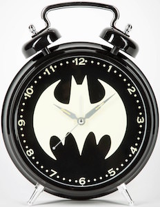 Glow In The Dark Batman Symbol Alarm Clock