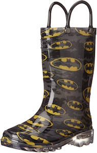 Batman Logo Rain Boots With Lights