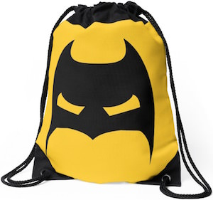 Batman Mask Drawstring Backpack