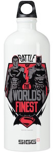 Battle Of The Worlds Finest Superhero's Water Bottle
