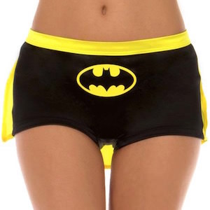 Batman Women's Shorts With Cape