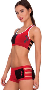 Banded Harley Quinn Bra And Panty Set