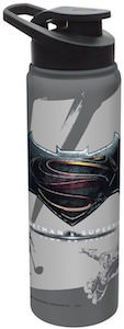 Batman V Superman Logo Water Bottle
