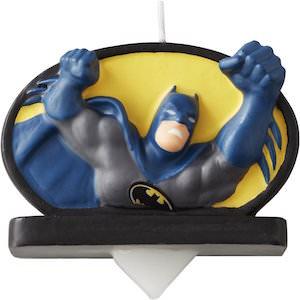 Batman Climbing Up Birthday Candle