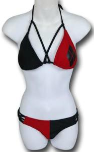 Harley Quinn Cross Front Triangle Bikini
