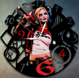 Harley Quinn Vinyl Record Wall Clock