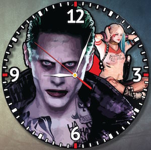 Suicide Squad The Joker And Harley Quinn Wall Clock