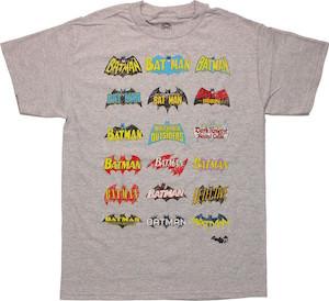 Batman Logo Evolution T-Shirt