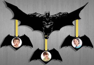 batman hanging picture frames