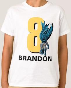 Batman Kids Name And Age T-Shirt