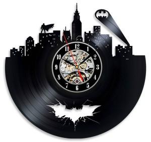 Batman Cityscape Vinyl Record Art Clock