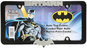 Batman License Plate Frame With Metal Logo